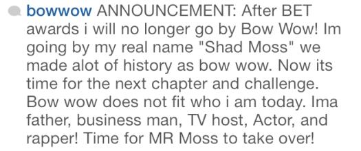 Bow wow instagram name